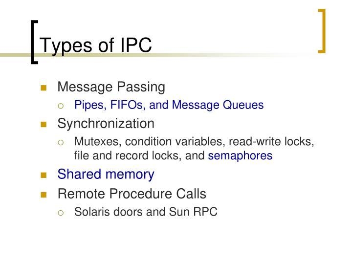 Types of IPC