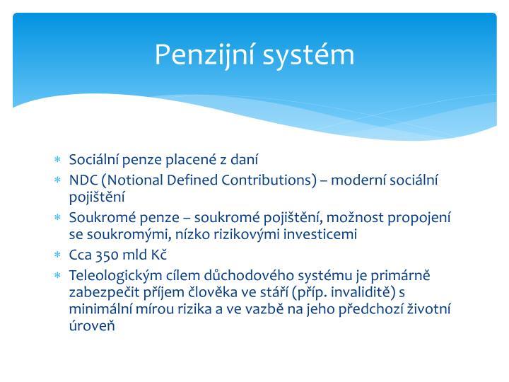 Penzijní systém