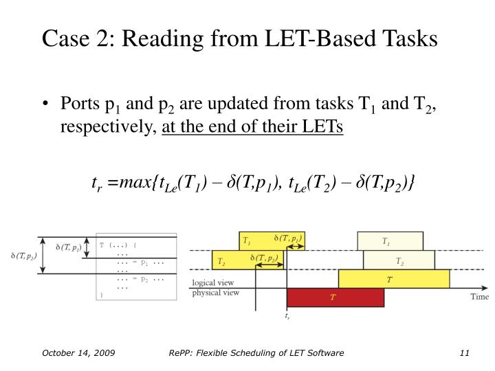 Case 2: Reading from LET-Based Tasks