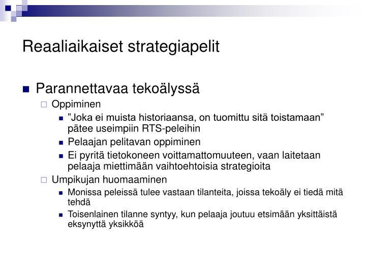 Reaaliaikaiset strategiapelit