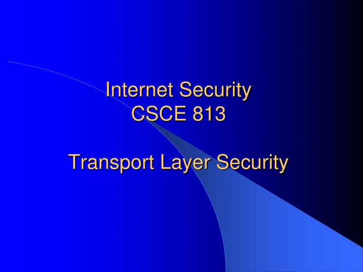 transport layer security essay