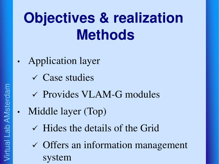 Objectives & realization