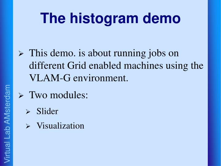 The histogram demo