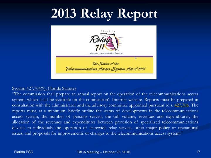 2013 Relay Report