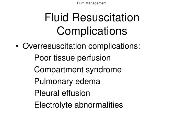 Fluid Resuscitation Complications
