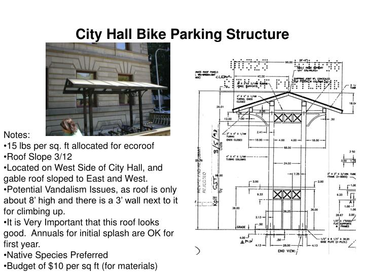 City Hall Bike Parking Structure