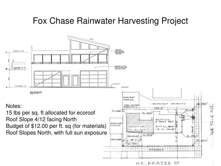 Fox Chase Rainwater Harvesting Project