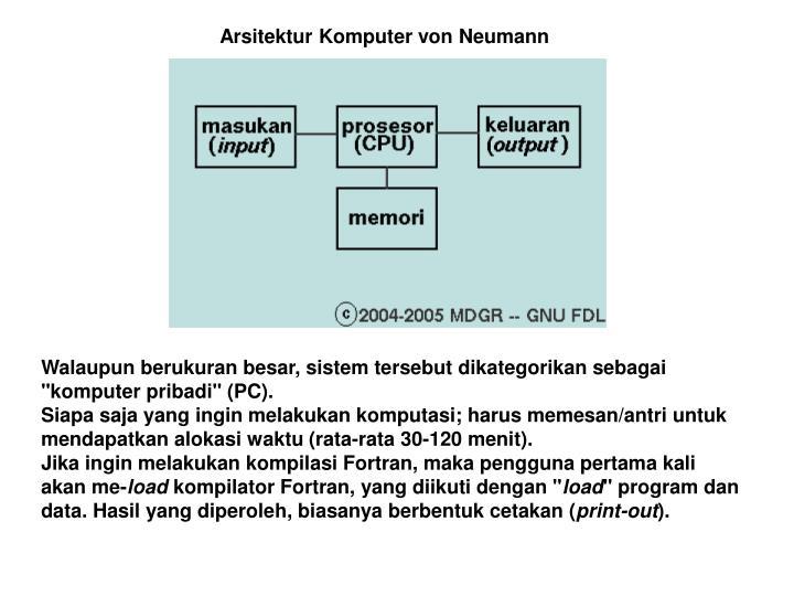 Arsitektur Komputer von Neumann