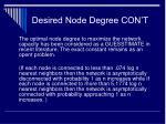 desired node degree con t