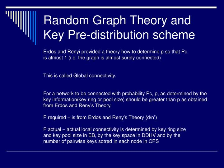 Random Graph Theory and Key Pre-distribution scheme
