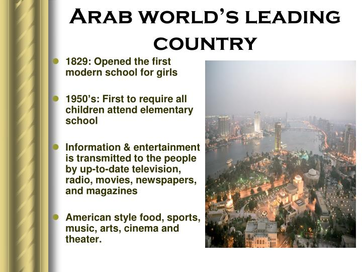 Arab world's leading country