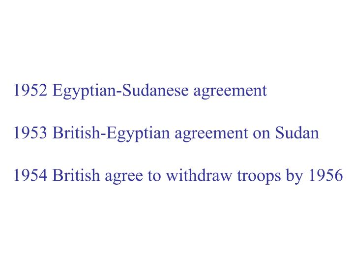 1952 Egyptian-Sudanese agreement