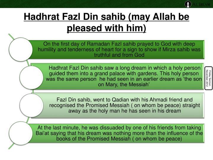 Hadhrat Fazl Din sahib
