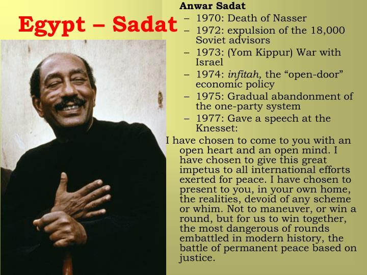 Egypt – Sadat