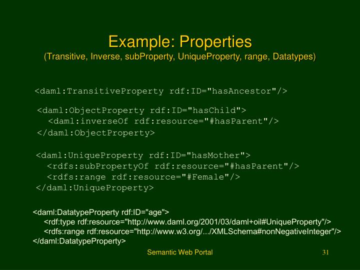 Example: Properties