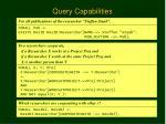 query capabilities