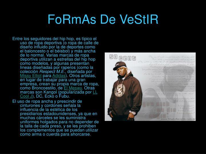 FoRmAs De VeStIR