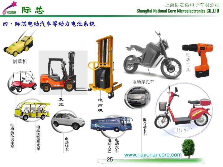 四.际芯电动汽车等动力电池系统
