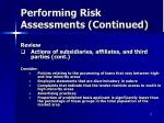 performing risk assessments continued11