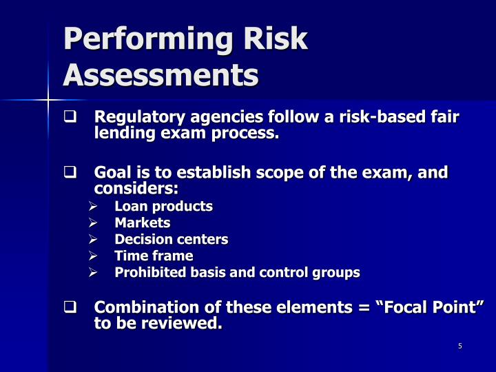 Performing Risk Assessments