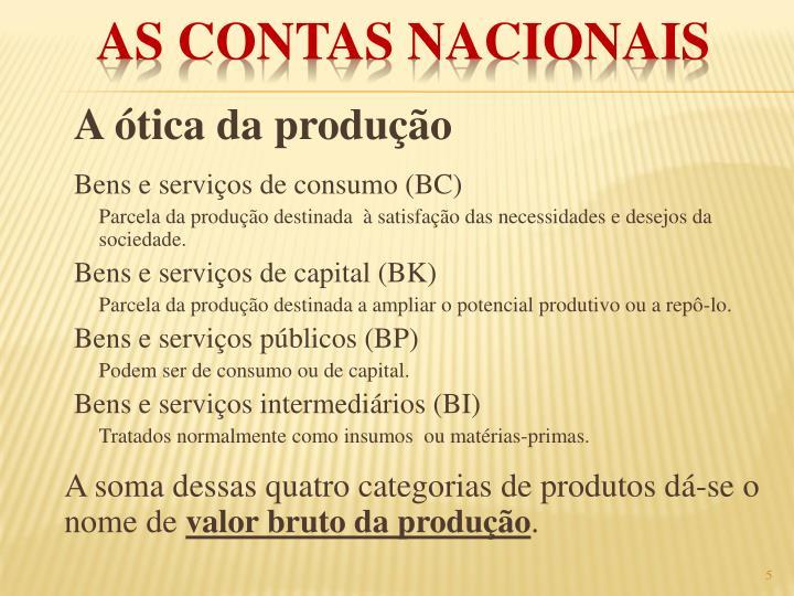 A ótica da produção