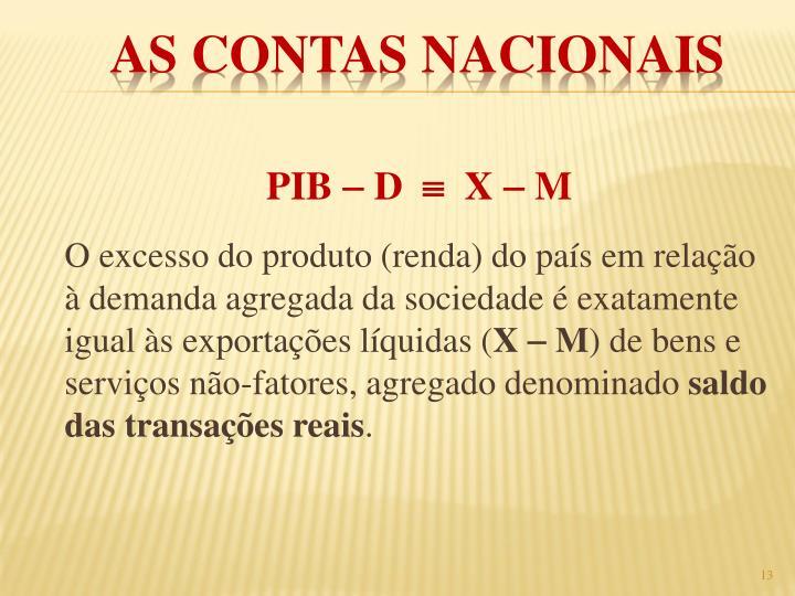 PIB  D    X  M
