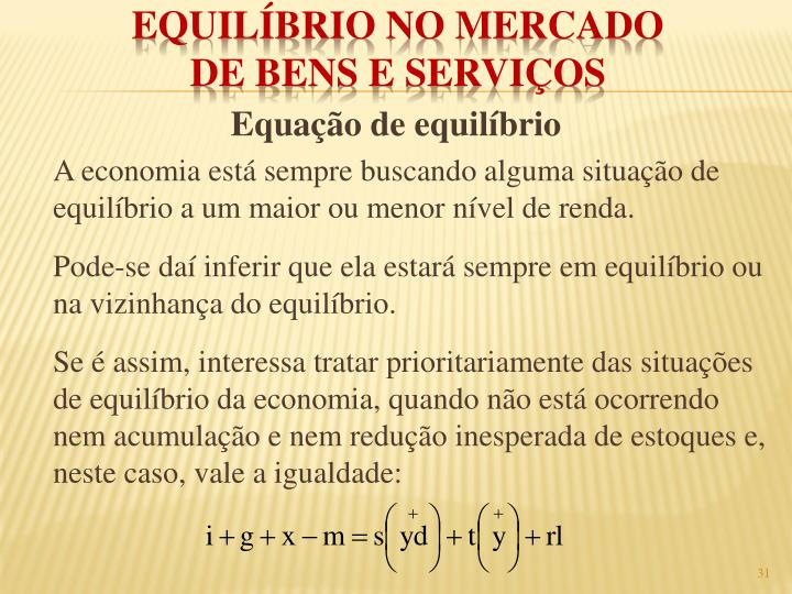 Equação de equilíbrio
