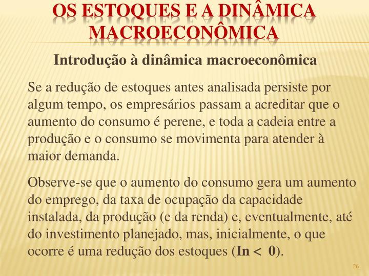 Introdução à dinâmica macroeconômica