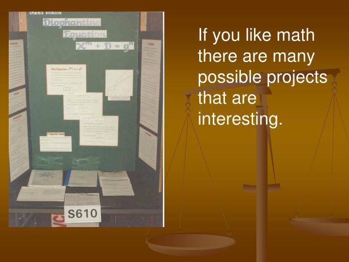 If you like math