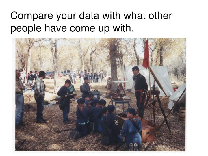 Compare your data with what other