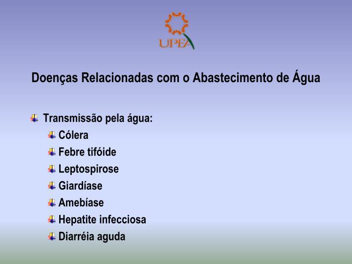 Doenças Relacionadas com o Abastecimento de Água