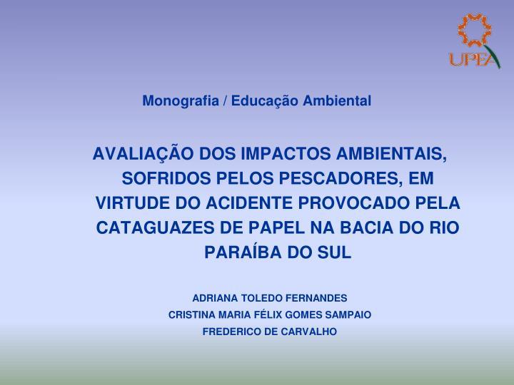 Monografia / Educação Ambiental