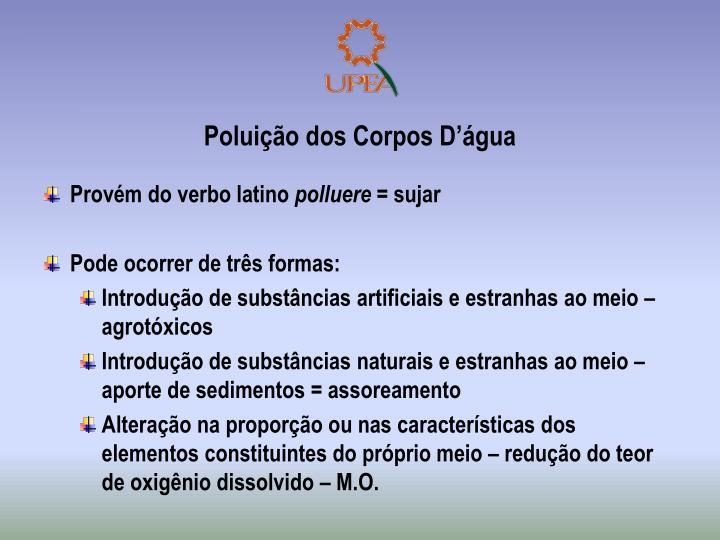 Poluição dos Corpos D'água