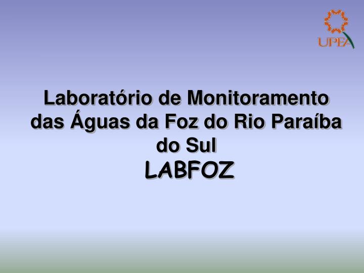 Laboratório de Monitoramento das Águas da Foz do Rio Paraíba do Sul