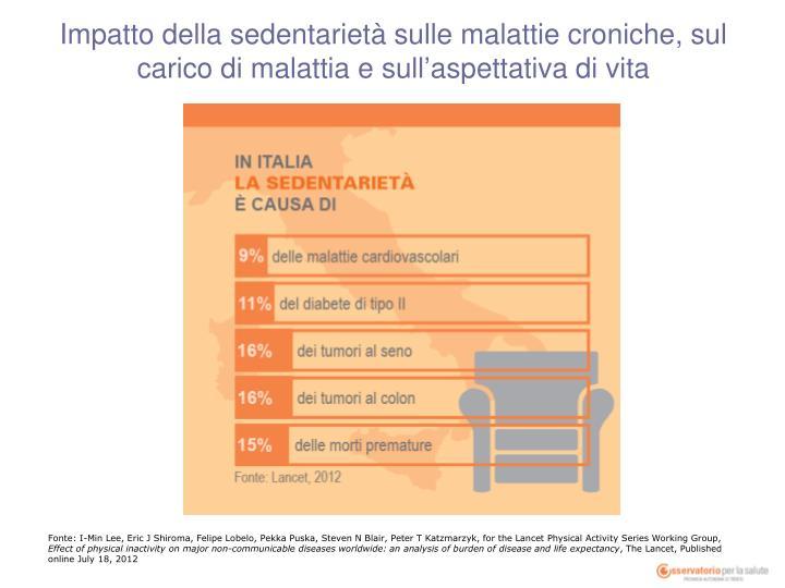 Impatto della sedentarietà sulle malattie croniche, sul carico di malattia e sull'aspettativa di vita