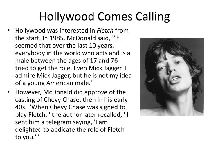 Hollywood comes calling