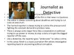 journalist as detective