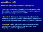 algorithms 3 6