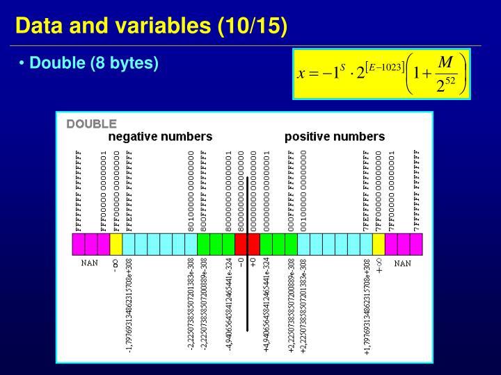 Double (8 bytes)