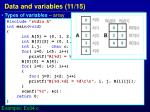 data and variables 11 15