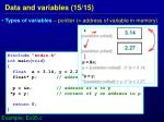 data and variables 15 15