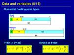 data and variables 8 15