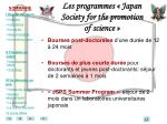 les programmes japan society for the promotion of science