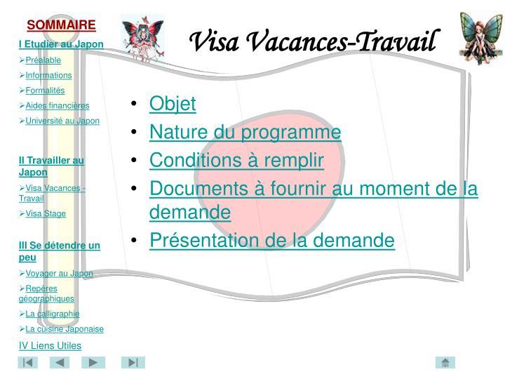 Visa Vacances-Travail