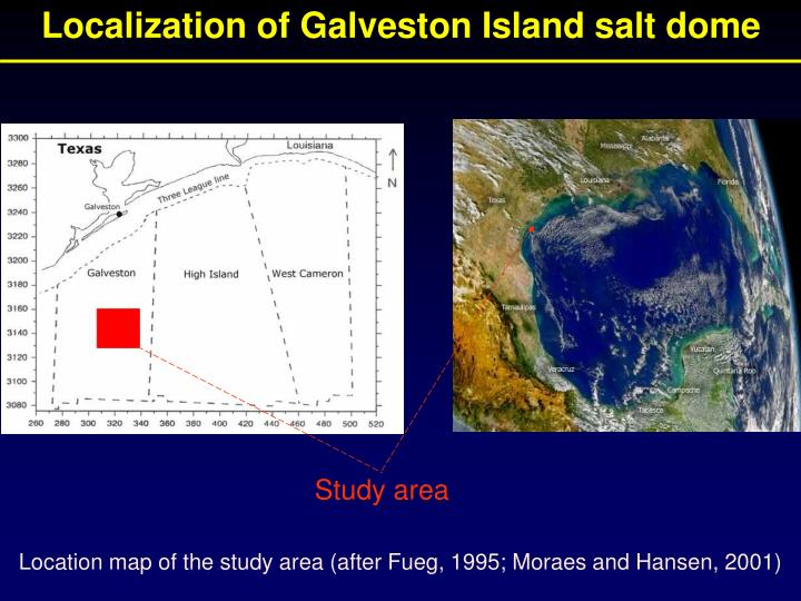 Localization of Galveston Island salt dome