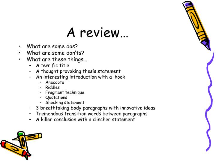 A review…