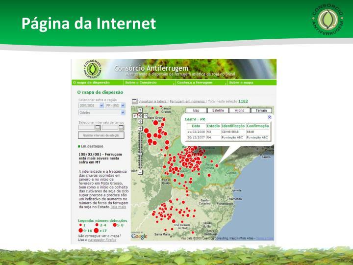 Página da Internet