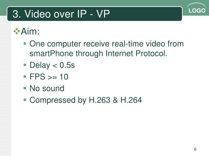 3. Video over IP - VP