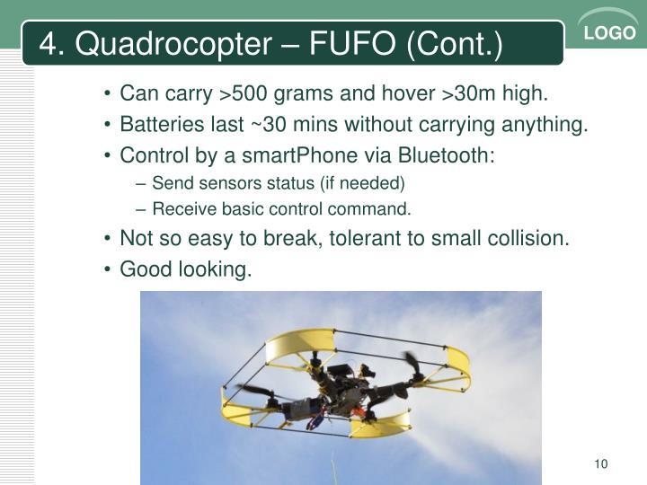 4. Quadrocopter – FUFO (Cont.)