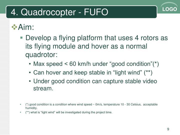 4. Quadrocopter - FUFO